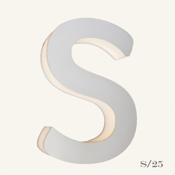 Reclaimed Letter Light S