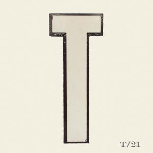 Reclaimed White Resin Letter T