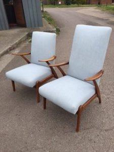 Vintage Mid Century Lounge Chairs