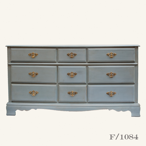 Vintage Chest of Drawers Blue Large