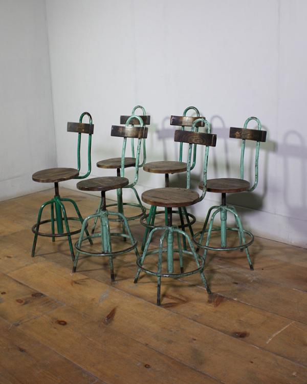 Vintage Industrial Machinist Stools