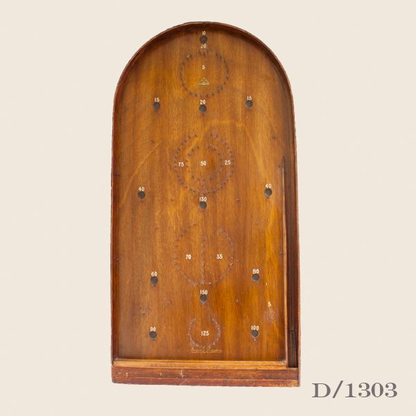 Vintage Wooden Bagatelle Game Board