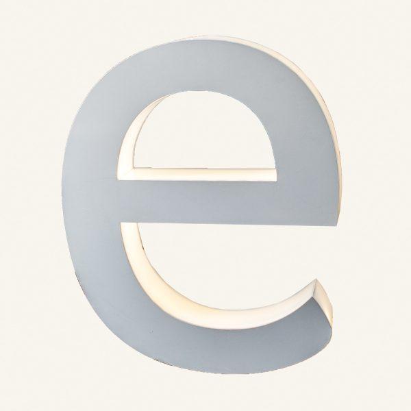 Reclaimed Halo Letter Light E
