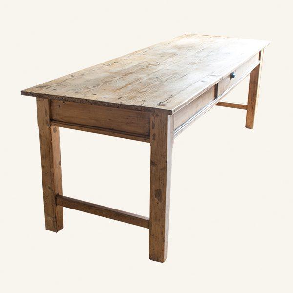 Large Vintage Pine Farmhouse Table