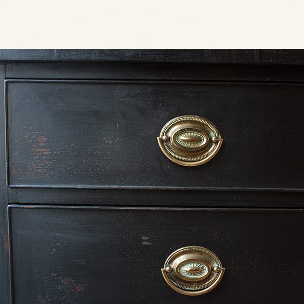 Vintage Black Chest of Drawers