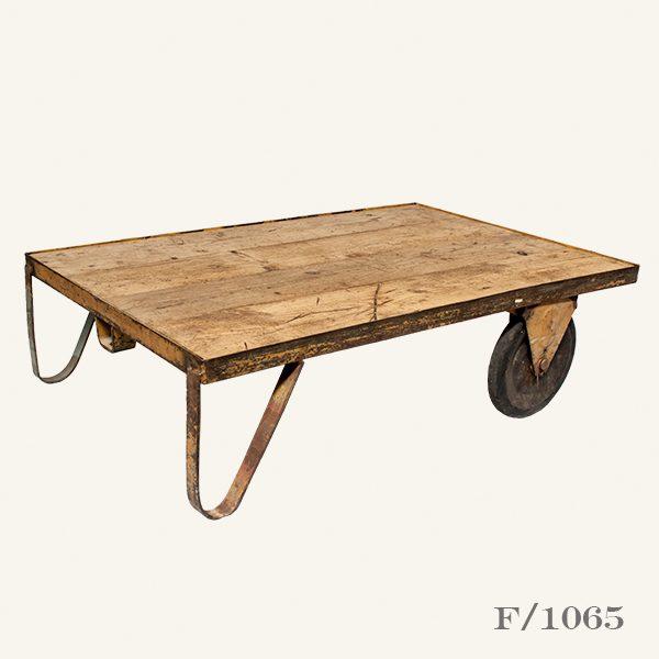 Vintage Industrial Factory Trolley Cart Table