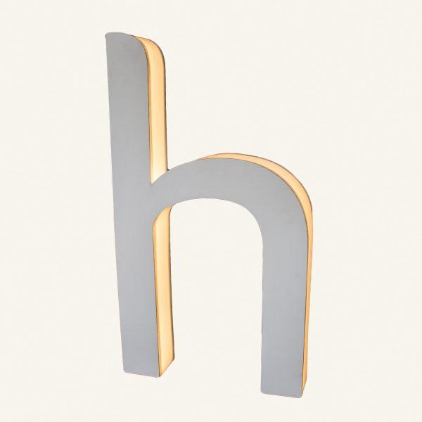Reclaimed Halo Letter Light H