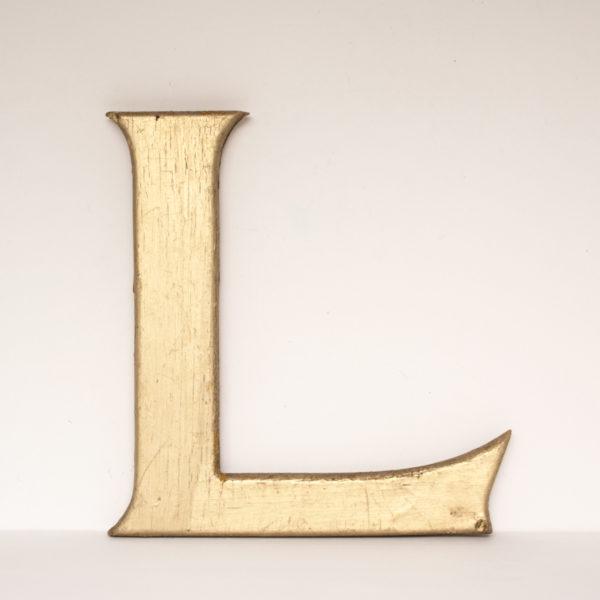 Reclaimed Gilt Wooden Letter L