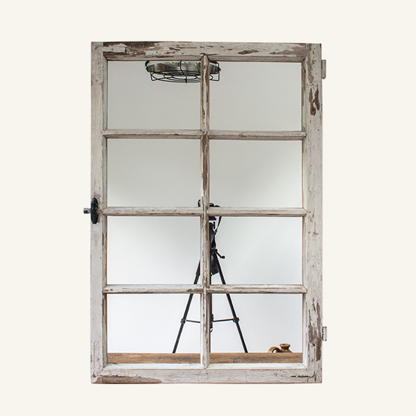 Vintage 8 Pane Window Mirror