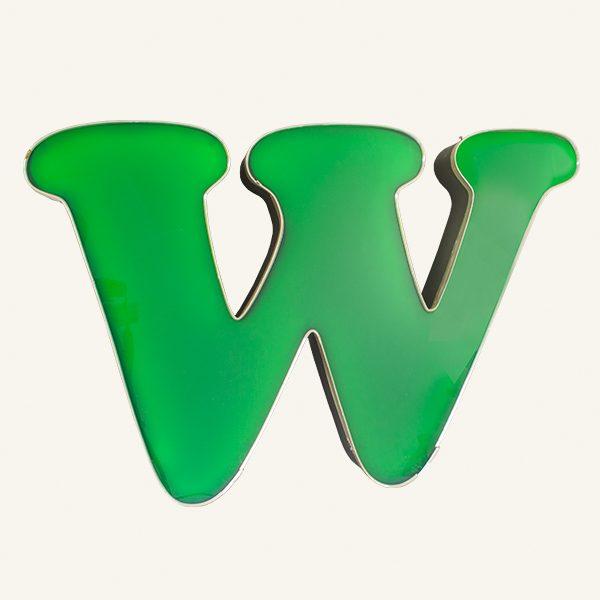 Reclaimed Green Letter Light W