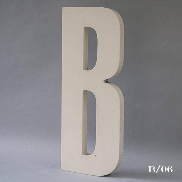 Reclaimed White Resin Letter B