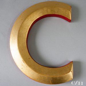 Reclaimed Gold Resin Letter C