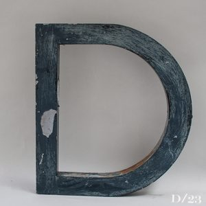 Reclaimed Distressed Metal Letter D