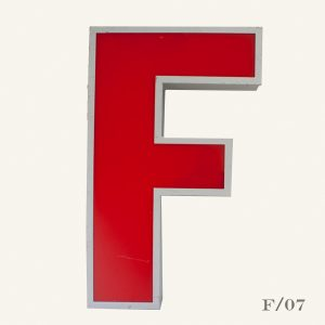 Large Reclaimed Red Letter Light F