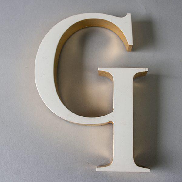 Reclaimed White Resin Letter G