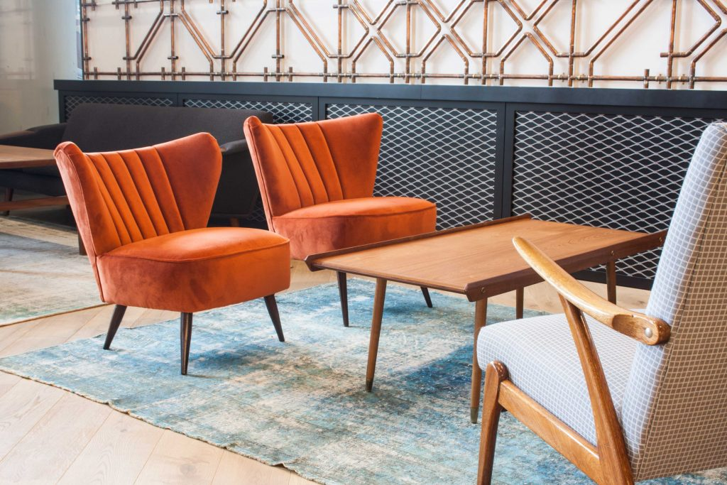 Mid Century Furniture in Amazons Reception Area