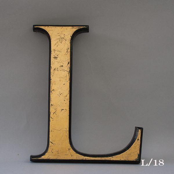 Reclaimed Gold Resin Letter L