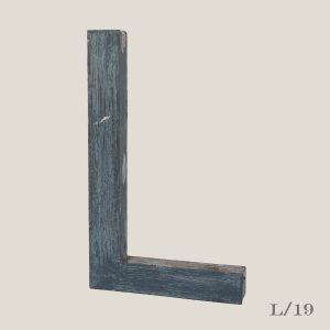 Reclaimed Distressed Metal Letter L