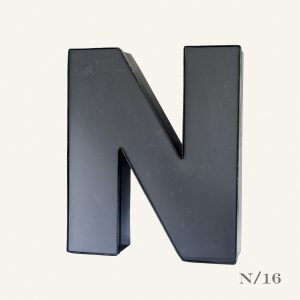 Reclaimed Grey Letter Light N