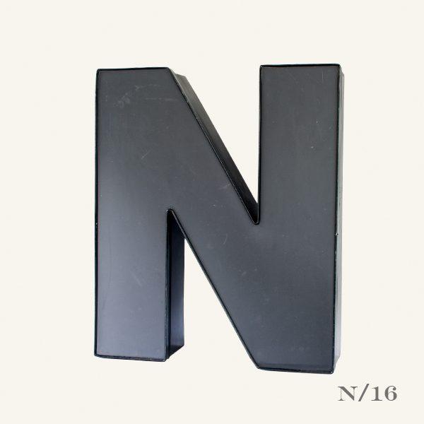 Reclaimed Grey Letter Light N