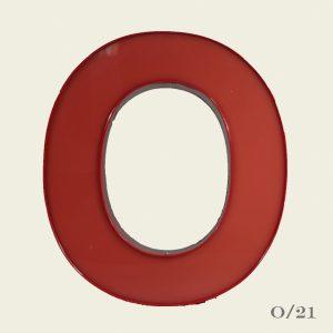 Reclaimed Red Letter Light O