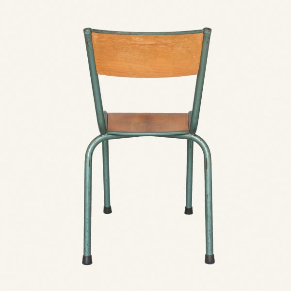 Vintage French Stacking School Chairs