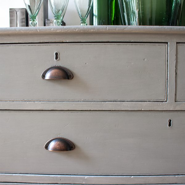 Vintage Grey Painted Chest of Drawers