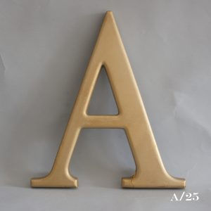 Gold Resin Reclaimed Pub Letter A