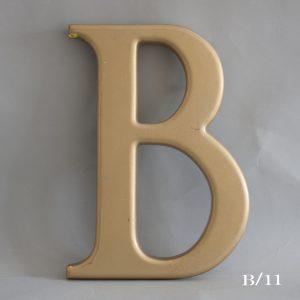 Gold Resin Reclaimed Pub Letter B
