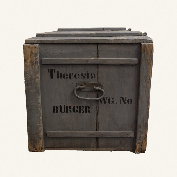 Vintage Large Wooden Storage Chest
