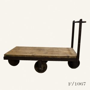 Vintage Industrial Factory Trolley Cart Coffee Table