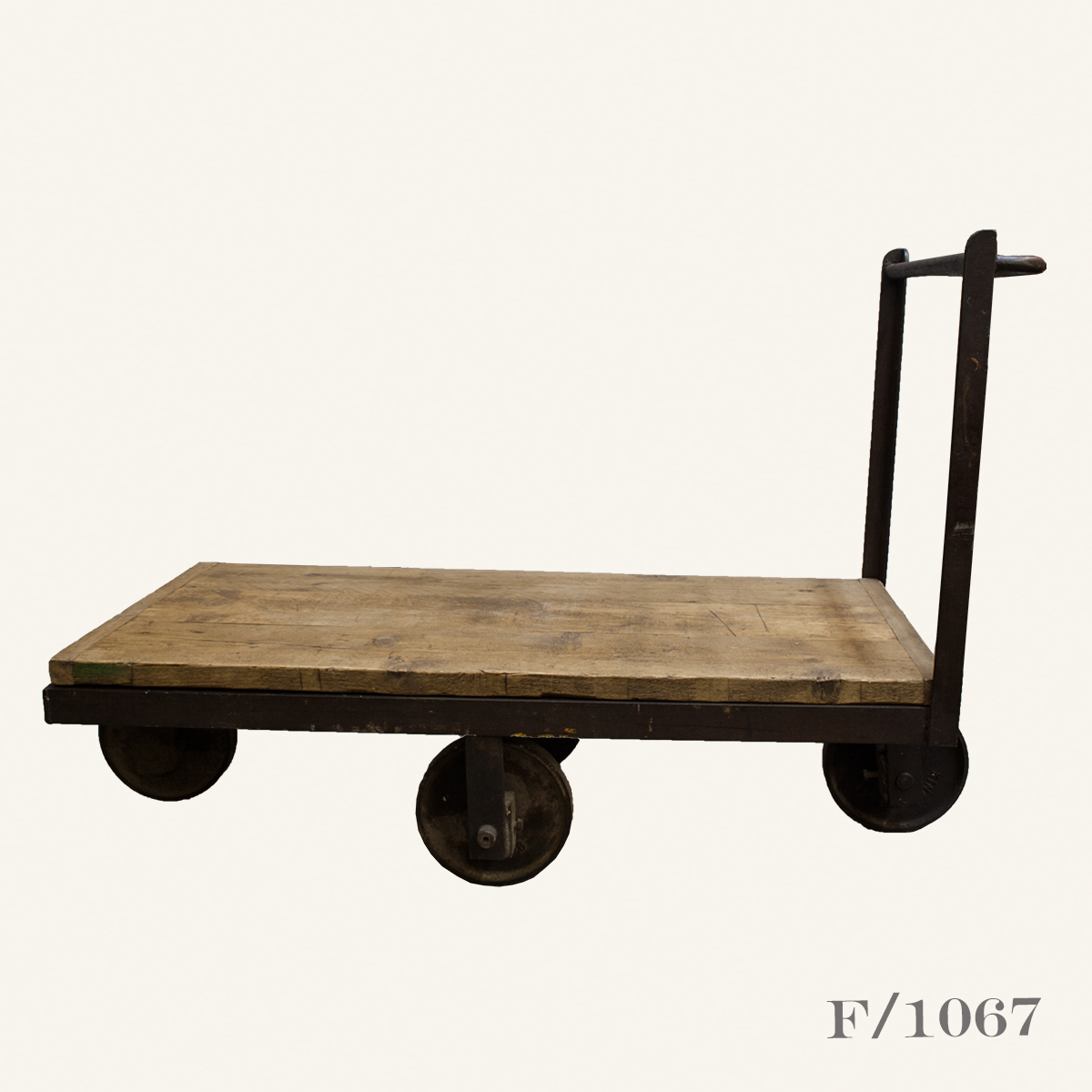 Antique Industrial Cart Coffee Table: Vintage Industrial Factory Trolley Cart Coffee Table