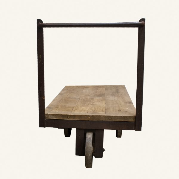 Vintage Industrial Factory Trolley Cart Coffee Table