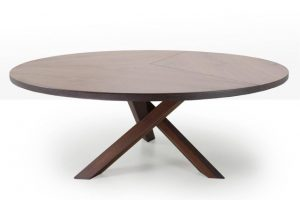 Mid Century Walnut Round Table