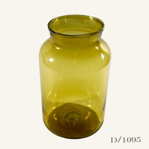 Vintage Amber Glass Pickling Jar