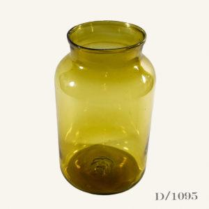 Vintage Amber Glass Pickling Jar