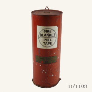 Vintage Fire Blanket Tin Canister