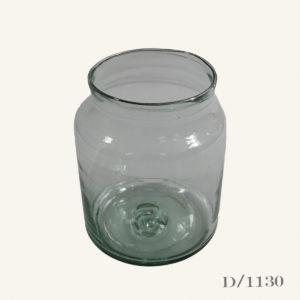 Small Vintage Glass Pickling Jar Vase