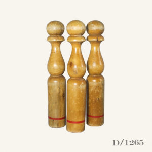 Set 3 Vintage French Wooden Skittles