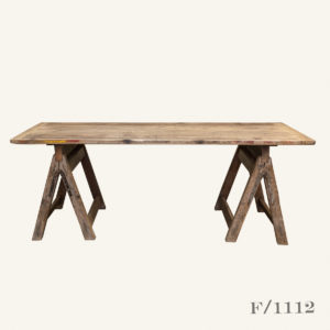 Vintage Wooden Trestle Table