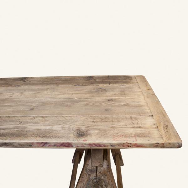 Vintage Wooden Trestle Table