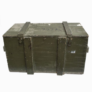 Vintage Military Wooden Storage Chest