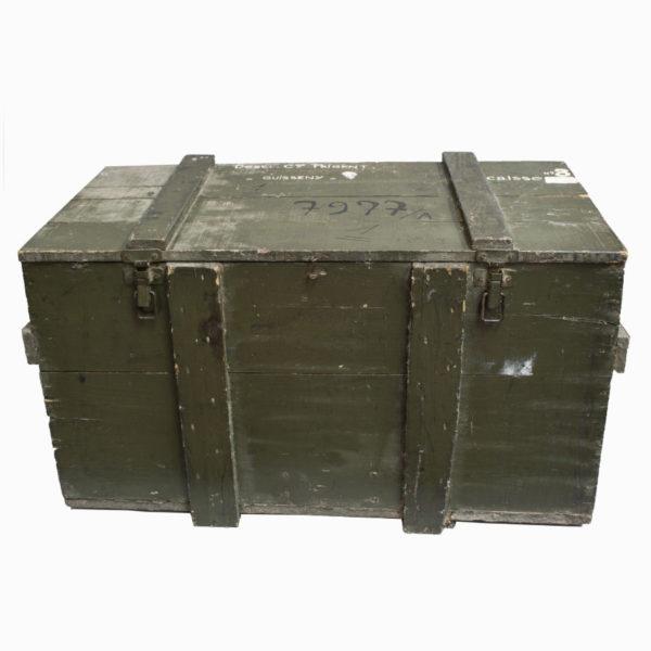 Vintage Military Wooden Storage Chest