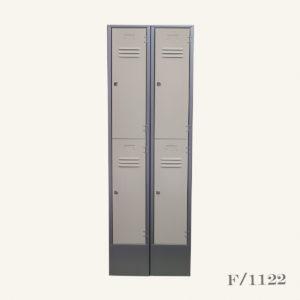 Set 2 Retro Style Steel Lockers