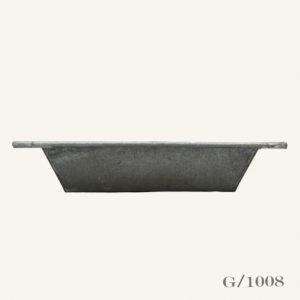 Vintage Galvanised Zinc Bath Planter