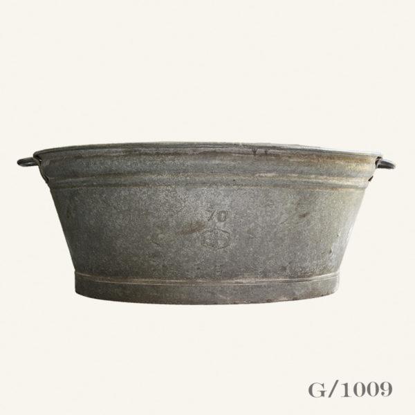 Vintage Galvanised Zinc Oval Planter