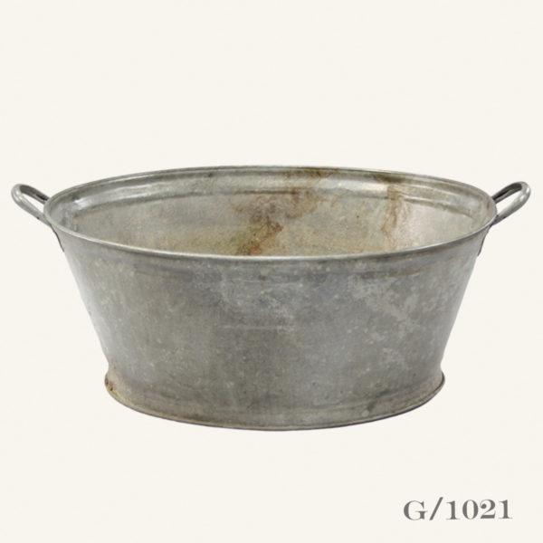 Vintage Oval Zinc Planter