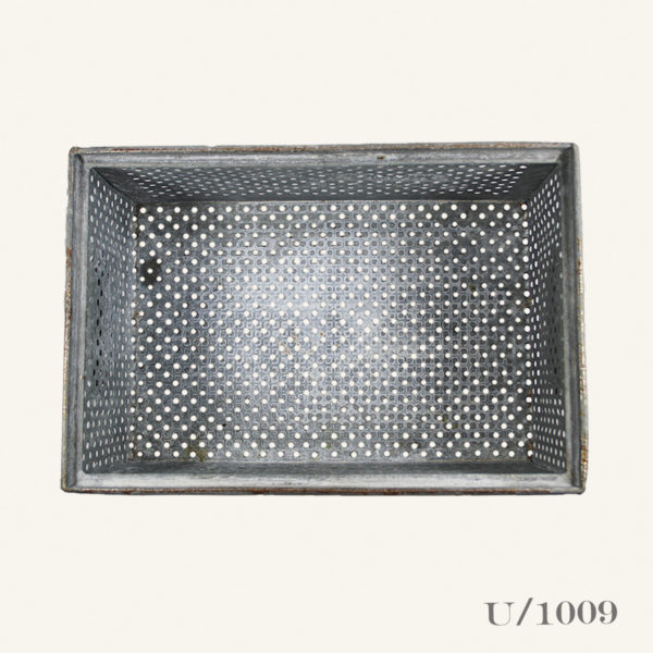 Vintage Galvanised Zinc Storage Basket