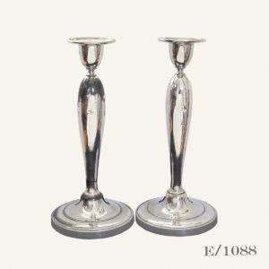 P`air Vintage Silverplate Candlesticks