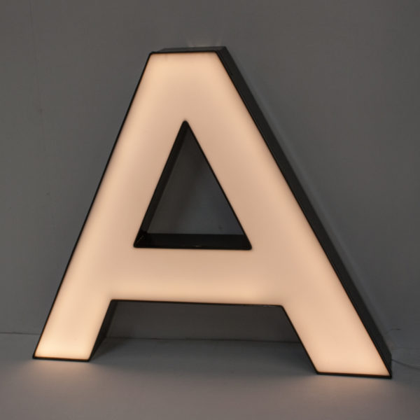 Large Reclaimed White Letter Light A